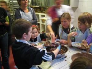 Chocolade kinderfeestje