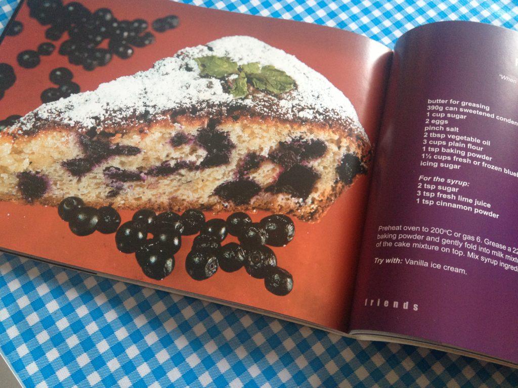Blueberry cake uit het kookboek: 'Friends'